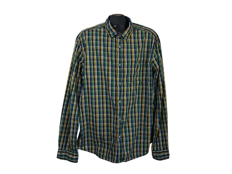 8fc3552bdfa Рубашка зеленая в клетку мужская ESPRIT