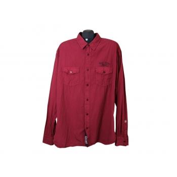 Рубашка бордовая мужская UNLOCKED, 3XL