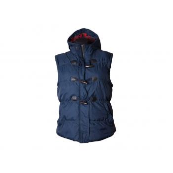 Женский синий жилет с капюшоном DENIM, XL