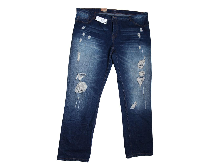 Мужские рваные джинсы COMFORT FIT KIABI W 46 L 36