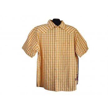 Рубашка мужская желтая в клетку WRANGLER, XL