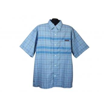 Рубашка мужская голубая в клетку TOM TOMPSON, XXL