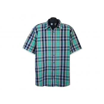 Рубашка мужская зеленая в клетку CASA MODA, XXL