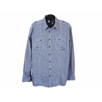 Рубашка в полоску мужская SLIM FIT ANGELO LITRICO, 3XL