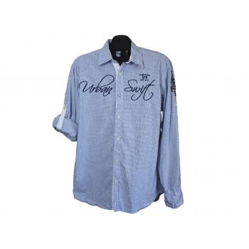 Рубашка в мелкую клетку мужская TOM TAILOR, L