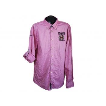 Рубашка мужская розовая NEW ZEALAND AUCLAND, XL
