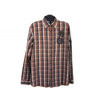 Рубашка мужская в клетку COLLUMN, XL