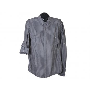 Рубашка приталенная мужская в полоску NEW LOOK, М