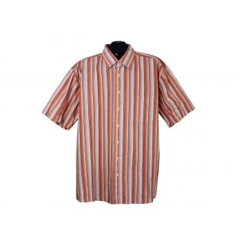 Рубашка мужская бежевая в полоску LORENZO CALVINO, XXL