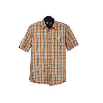 Рубашка мужская оранжевая в клетку MEXX, XL