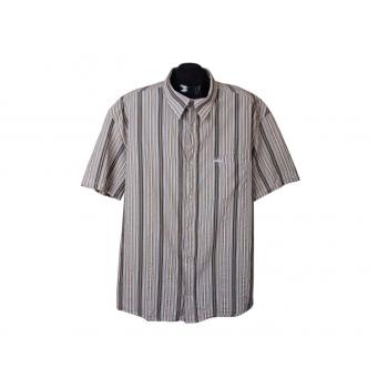 Рубашка мужская коричневая в полоску S.OLIVER, XXL