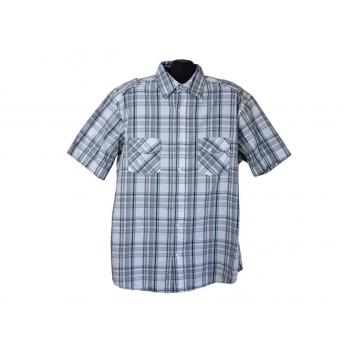 Рубашка мужская серая в клетку ANGELO LITRICO, XXL