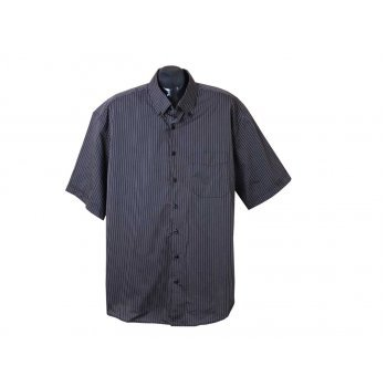 Рубашка мужская черная в полоску BEXLEYS, XXL