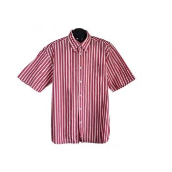 Рубашка мужская красная в полоску LERROS, XL