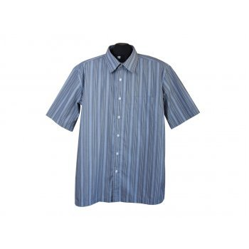 Рубашка мужская серая в полоску LEE COOPER, L