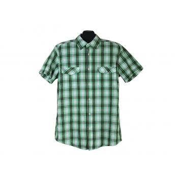 Рубашка мужская зеленая в клетку L.O.G.G by H&M, L