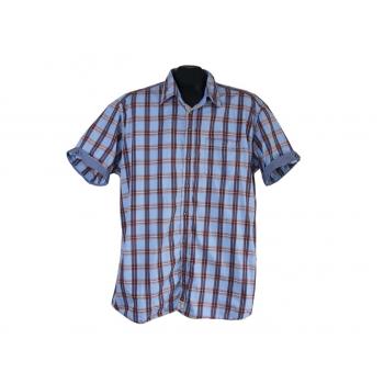 Рубашка мужская голубая в клетку PIERRE CARDIN, XL