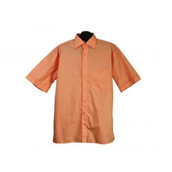 Рубашка мужская оранжевая ETERNA EXCELLENT, XXL