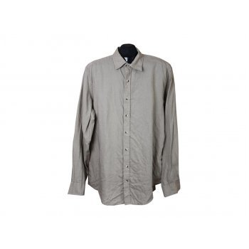 Рубашка льняная мужская серая CANDA, XL