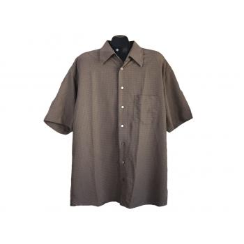 Рубашка мужская коричневая SIGNUM, XXL