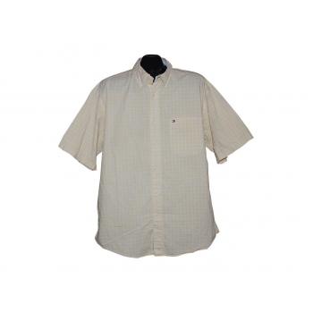 Мужская желтая рубашка в клетку TOMMY HILFIGER, XXL