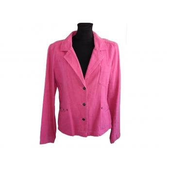 Женский розовый льняной пиджак ETAM, L