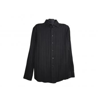 Мужская черная рубашка LUXURY COTTON, L