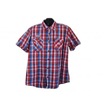 Рубашка мужская в клетку ANGELO LITRICO SLIM FIT, XL