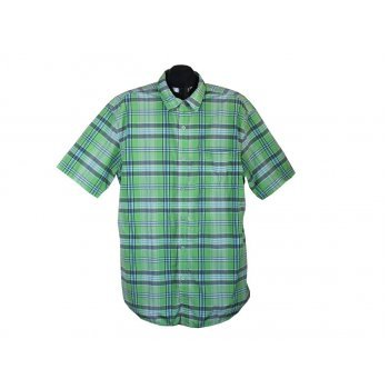 Рубашка мужская зеленая в клетку VAN VAAN, XL