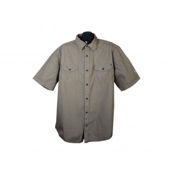Рубашка мужская коричневая CANDA, XXL