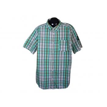 Рубашка мужская зеленая в клетку INFINITY MAN, XL