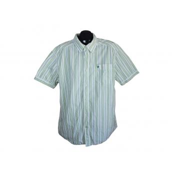 Мужская рубашка белая в полоску MUSTANG, XL