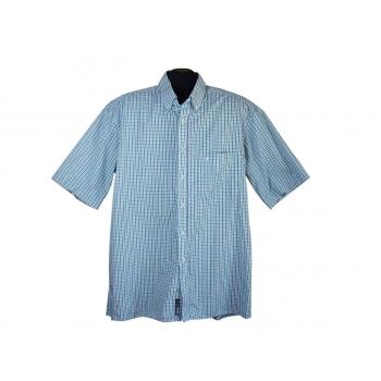 Рубашка мужская зеленая в клетку COMFORT FIT ETERNA, XL