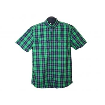 Рубашка мужская зеленая в клетку S.OLIVER, L