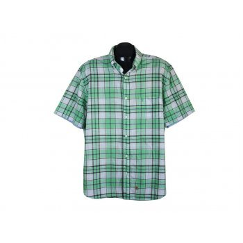 Рубашка мужская зеленая в клетку MARC O.POLO, XL
