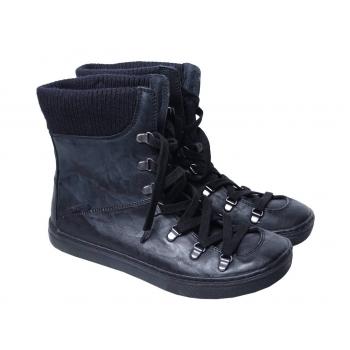 Женские черные кожаные высокие кеды BLOWFISH 39 размер