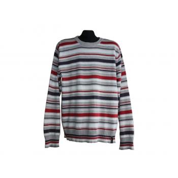 Джемпер мужской серый в цветную полоску JACK & JONES, L