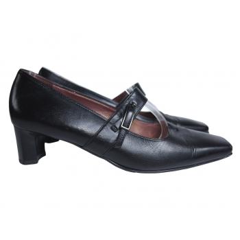 Туфли женские кожаные черные HOGL 38 размер