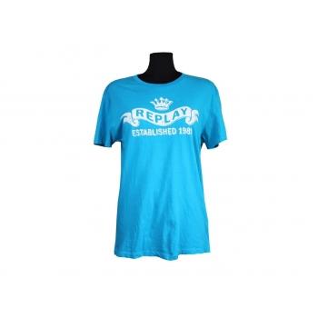 Футболка женская голубая REPLAY, XL