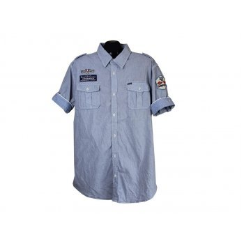 Рубашка мужская голубая SCOTCH & SODA, XL