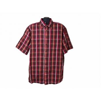 Рубашка мужская красная в клетку LORENZO CALVINO, XXL