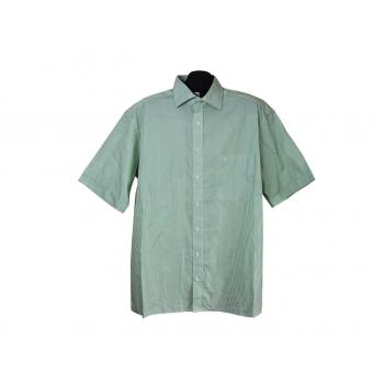 Рубашка мужская зеленая в полоску COMFORT FIT ETERNA, XL