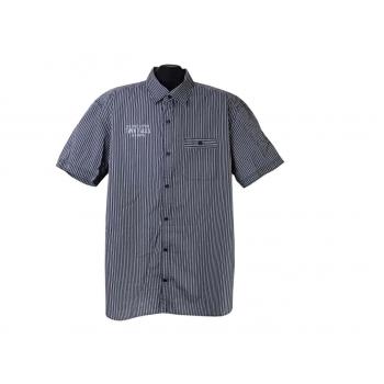 Рубашка мужская серая в полоску TWIN FALLS S.OLIVER, XXL
