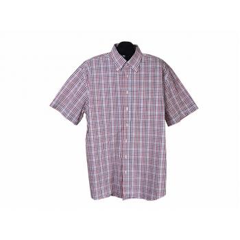 Рубашка мужская белая в цветную клетку GILBERTO, XXL