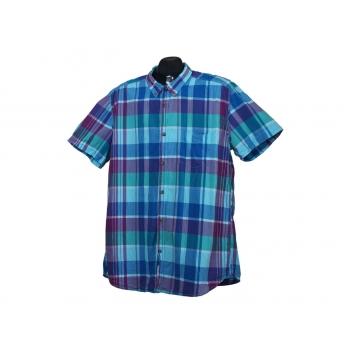 Мужская синяя рубашка в клетку L.O.G.G by H&M, L