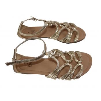 Женские золотистые сандалии TU 37 размер