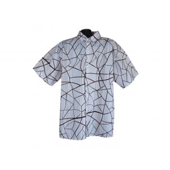 Рубашка мужская белая в полоску IDENTIC, XL