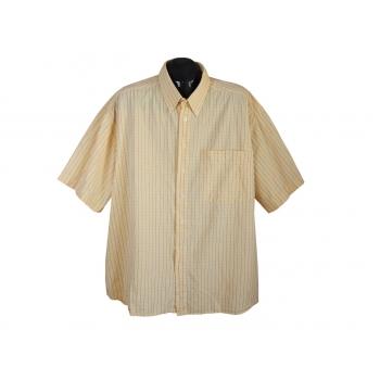 Рубашка мужская желтая в клетку JEAN CHATEL, 3XL