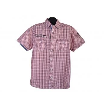 Рубашка мужская красная в клетку CAMP DAVID, L