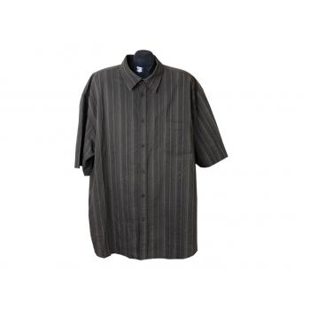 Рубашка мужская темная в полоску ANGELO LITRICO, 4XL